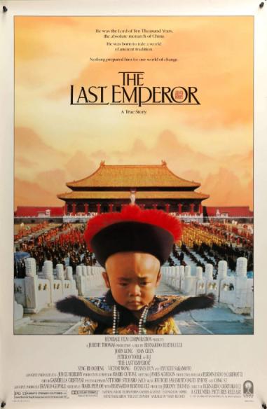 9 (tie) Bernardo Bertolucci's THE LAST EMPEROR (1987)